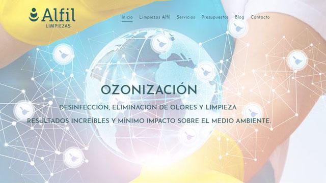 Nueva página web Limpiezas Alfil